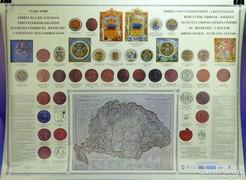 0H044 Erdélyi címerek és pecsétek térképpel CSÁKY