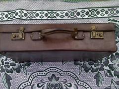 Bőrönd - régi, bőrből készült