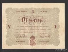 5 forint 1848. EXTRA SZÉP!!!   EXTRÉM ALACSONY SORSZÁM!!!