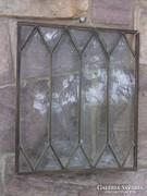 Akció ! Ólomüveg ablak-falikép réz keretben antik db