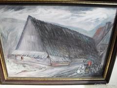 Ismeretlen  - Alpesi ház