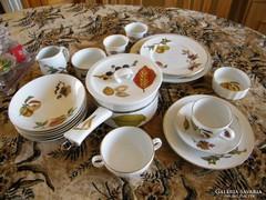 Gyümölcs mintás angol porcelánok 20 db