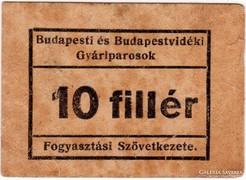 Budapesti és Budapestvidéki Gyáriparosok - 10 fillér