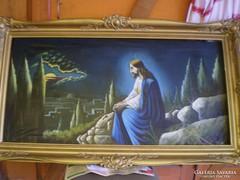 Jézus Olajfák alatt hatalmas nagy keretben