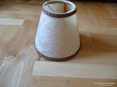 Pici Asztali állólámpa lámpaernyő barna szegéllyel