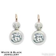 1,1 karátos antik gyémánt fülbevaló, 14K arany, felújított