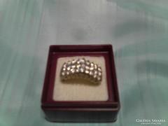 Csodás csillogó ezüst gyűrű