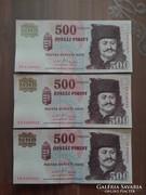 2011 sorszámkövető 500 Forint UNC