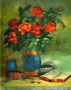 Borus J. jelzéssel : Rózsás csendélet