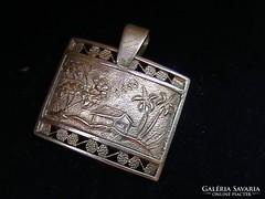 Kalapált ezüst medál 'HÁZIKÓ'