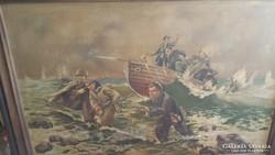 Orosz partaszallas ismeretlen festomuvesz eredeti festmenye