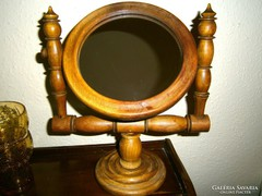 Antik fa asztali billenthető  tükör