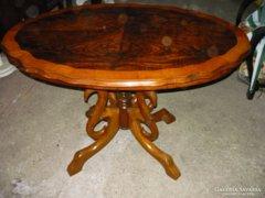 Biedermeier póklábú asztal - eredeti, felújított