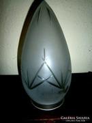 Antik csiszolt  üveg búra