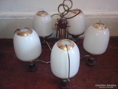 Nagyon szep vintage mennyezeti lampa ,csillar 5 agu