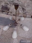 Gyönyörü Art Deco lampa,csillar
