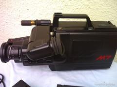 Retro PANASONIC M7 videokamera és lejátszó VHS MOVIE