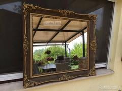 Antik bútor, felújított aranyozott tükör 06.