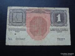 1916 1 korona 7000 Feletti, csillagos sorszám RR!