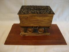 Szenes vagon relikvia , íróasztali dísz , emléktárgy