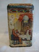 Régi kínai teás pléh doboz , jó állapot