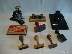 Íróasztali hagyaték kalamáris pecsétek tűzőgép