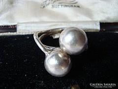 Bogyós ezüst gyűrű