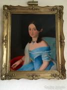 1850 BIEDERMEIER HÖLGY PORTRÉ