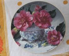 Bradex porcelán dísztányér limitált  virág dekor