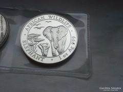 Somalia elefánt 2015 1 uncia színezüst 31,1g 0,999 keresett