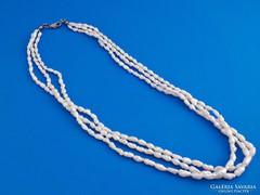 3 soros tenyésztett gyöngy nyaklánc