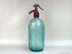 0G721 Régi feliratos zöld szódásüveg FRIEDMAN 1930