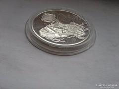 Dunai hajók ezüst 500 Ft 31,46 g 0,925 karc Carolina PP