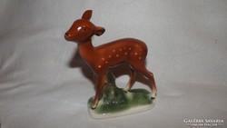 Antik Sitzendorfi  porcelán őz figura