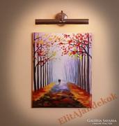 Séta az őszi parkban - varázslatos festmény