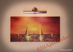 Vitorlások a naplementében - varázslatos festmény