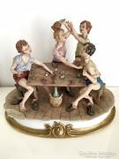 Capodimonte - Kártyázó fiúk (ÓRIÁSMÉRETŰ)