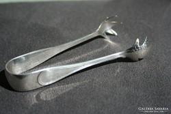 Antik ezüst cukorfogó csipesz