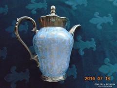 Ezüstvirágos királykék impozáns-teás kiöntő-Waldershof