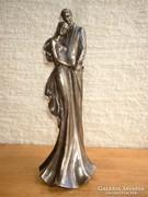 Akció !Fiatal pár-jegyespár bronzozott szobor-figura 34 cm