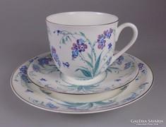 Lomonosov festett porcelán 3 részes kávés készlet
