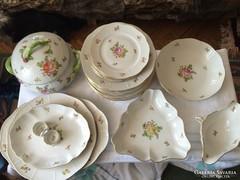 Antik 26 részes Herendi porcelán étkészlet..................