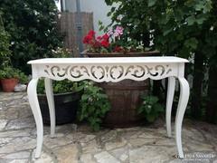 Provence neobarokk stílusú konzol asztal