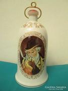 Porcelán pálinkás butykos 0,7 az alján cselédhívó csengővel