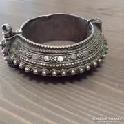 Antik kézműves ezüst karkötő