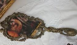 Kézitükör , barokk stílusú angyalos kézitükör