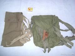 Régi /talán/ katonai hátizsák, szatyor - együtt eladó