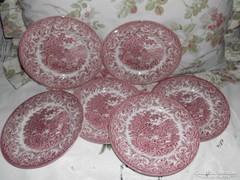 6db, angol porcelán desszertes tányér.