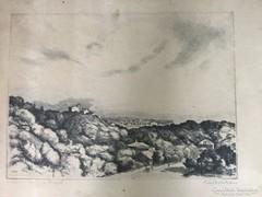 Rézkarc, Kilátás a Széchenyi hegyről