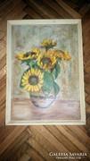 Antik olaj festmény kartonra!!!Jelezve:Márffy Ödön